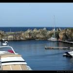 Port de Beaucette au Nord de Guernsey.