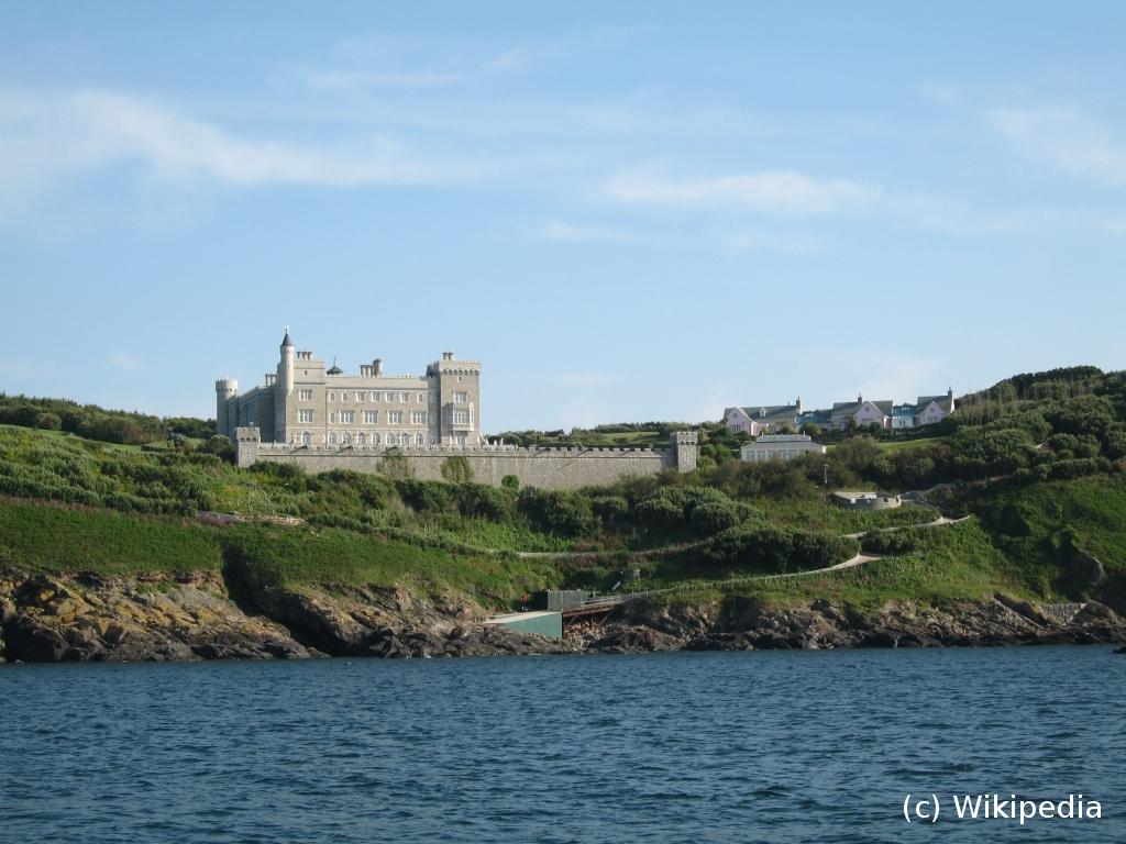 Le château sur l'île de Brecqhou