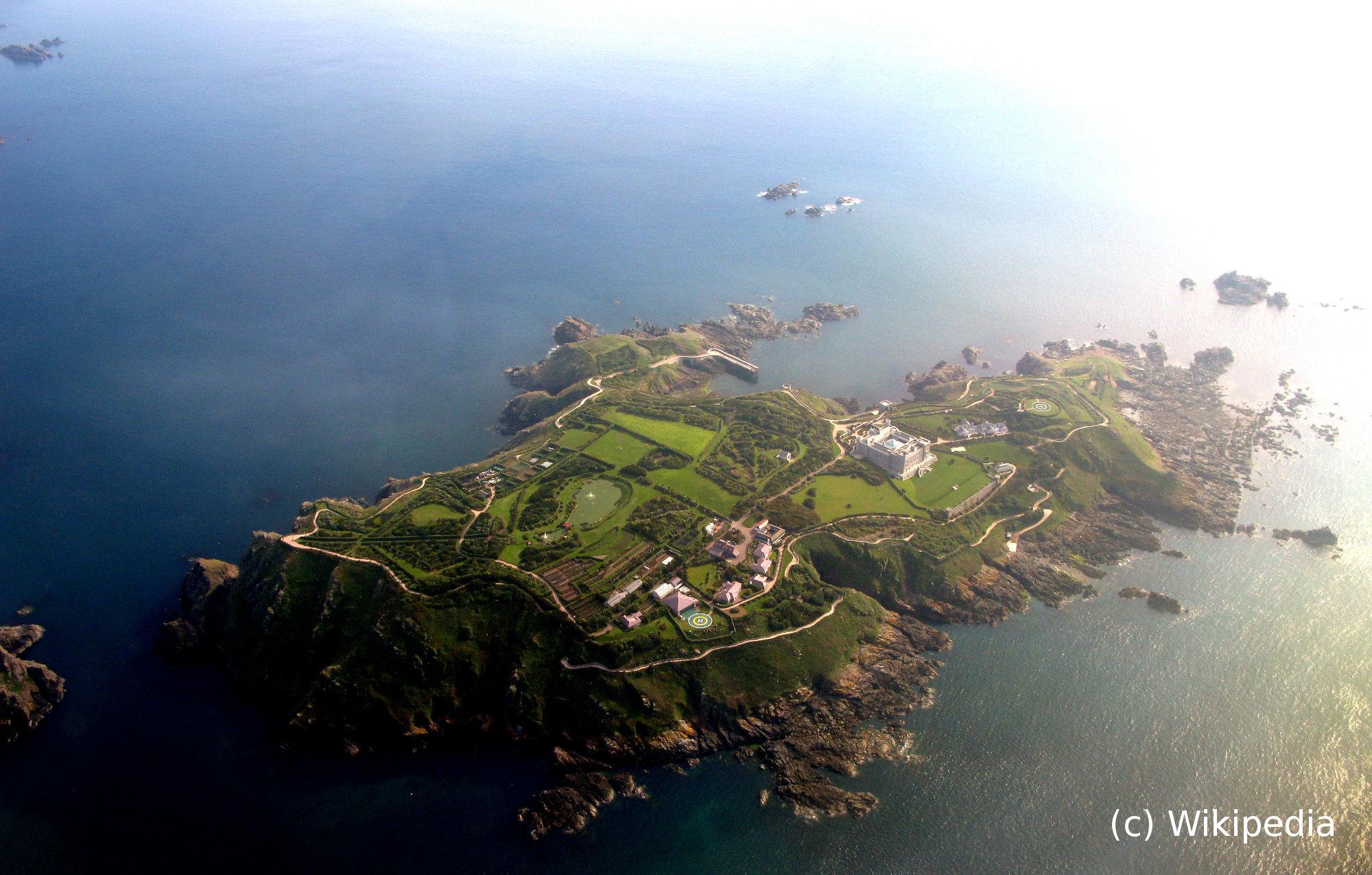 L'île de Brecqhou vue du ciel