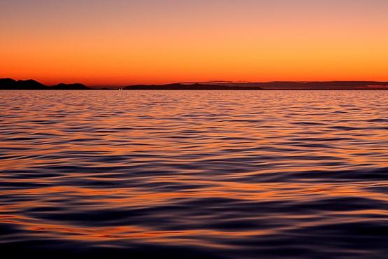 Coucher de soleil sur l'île de Sercq (Sark)