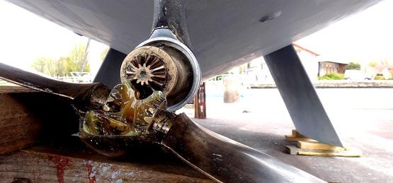 Hélice maxprop, assemblage des engrenages