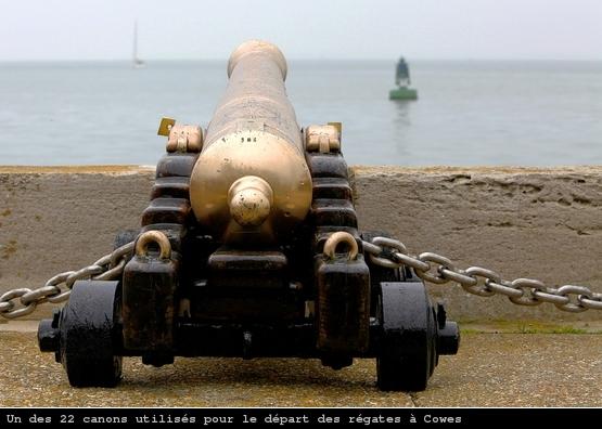 Canon utilisé pour les départs de régate à Cowes