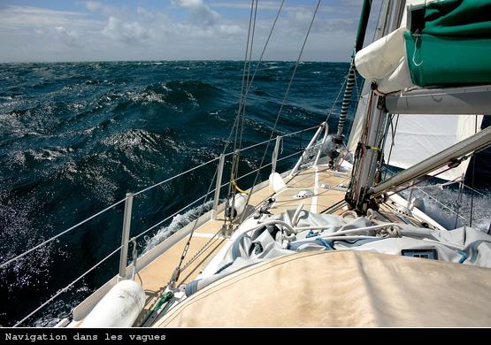 Navigation dans les vagues