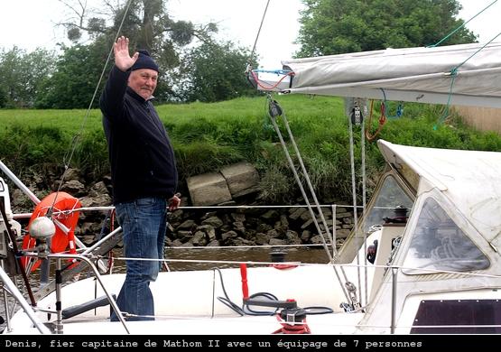 L'amiral sur son voilier Mathom II