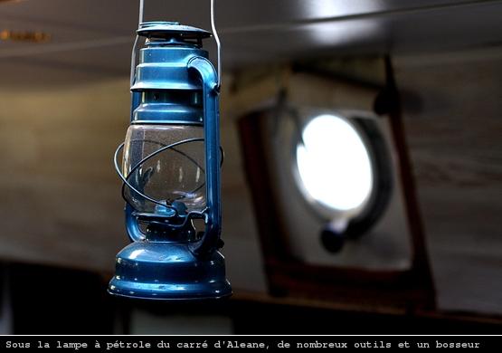 A l'intérieur du voilier Aleane