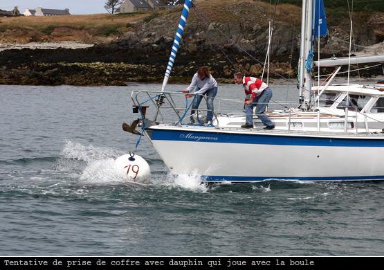 Prise de coffre difficile avec dauphin