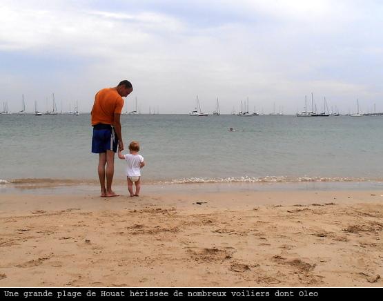 Houat, une plage bien peuplée