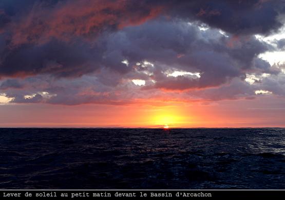 Lever de soleil devant Arcachon