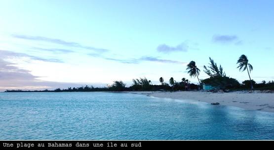 Plage de Man of War bay sur l'île d'Inagua aux Bahamas