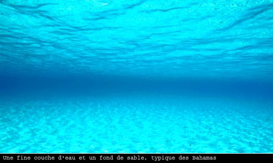 Plateau de sable aux Bahamas