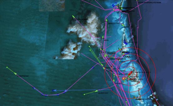 Les Bahamas sur opencpn, voilier OLEO