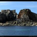 La baie de Hannaine à l'Ouest d'Alderney.